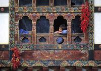 Woonhuis met pepers Paro Bhutan Djoser