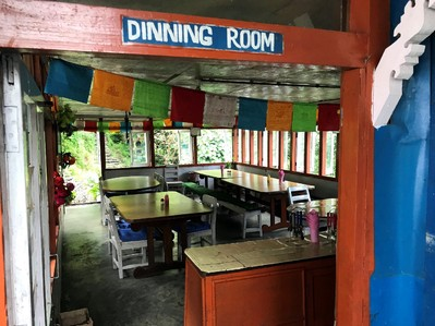 Nepal trekking restaurant