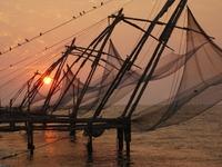 Cochin vissersnetten Zuid-India