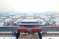 Beijing sneeuw China