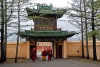 Monniken Ulaanbataar Mongolië