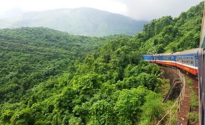 Trein Hanoi Hue landschap Vietnam