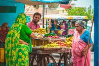 Markt koopman Delhi India