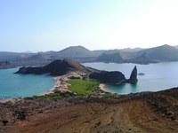 Uitzicht landschap Galapagos