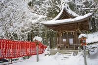 Sneeuw tempeltje Japan