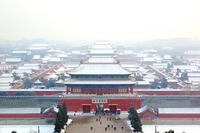 Verboden stad winter Beijing China