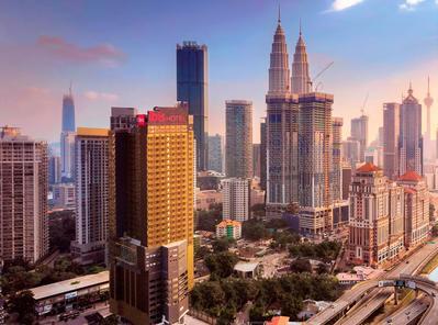 Kuala Lumpur ibis hotel uitzicht