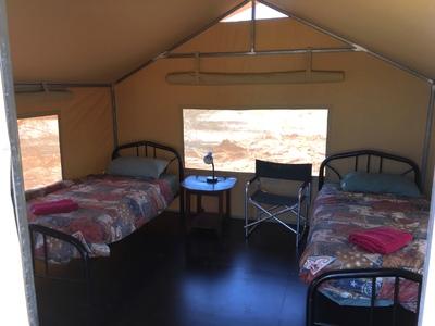 Tent binnenkant camp Australie