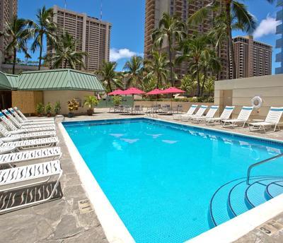Ramada Plaza zwembad Waikiki Hawaii Amerika