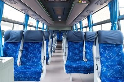 Bus binnenkant stoelen Zuid-Afrika