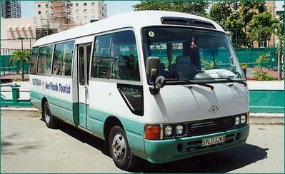 Vietnam bus vervoersmiddel Djoser