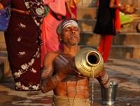 Ritueel bad Varanasi India