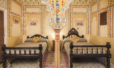 Slaapkamer Bissau Palace Jaipur India Djoser