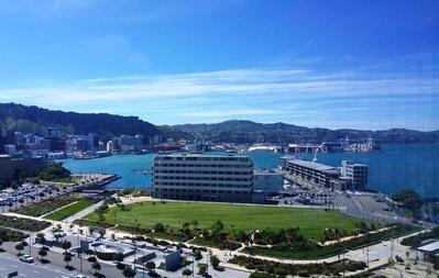 Bay Plaza Hotel uitzicht Wellington Nieuw-Zeeland