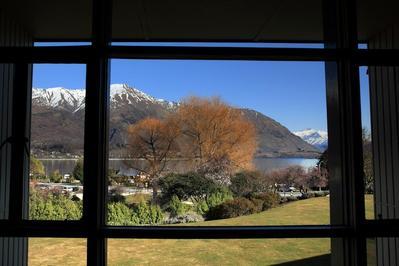 Wanaka Hotel uitzicht Nieuw-Zeeland