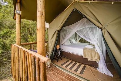 Accommodatie tented camp Zuid Afrika