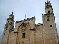 The central church of Merida in Mexico on Zocalo