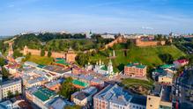 Nizjni Novgorod kremlin uitzichtfoto