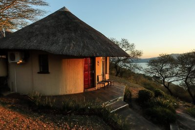 Accomodatie rondavel met uitzicht Zuid Afrika