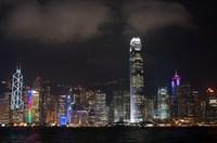 Hongkong skyline nacht China