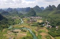 Yangshuo bergen China