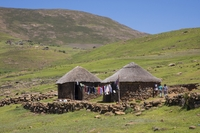 Basotho hut in Lesotho Zuid Afrika