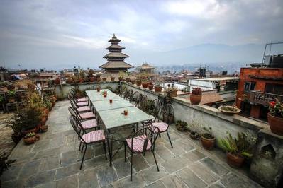 Golden Gate Guest House terras Bhaktapur Nepal