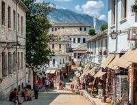 Straat Gjirokastra Albanië