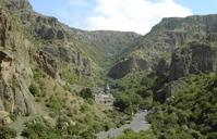 Vallei kerk Geghard Armenië