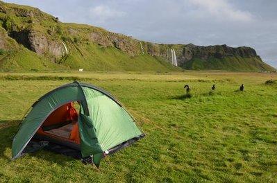 IJsland tent uitzicht