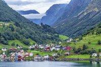 Dorp Aulandsfjord Noorwegen