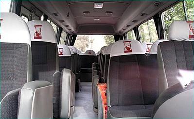 Binnenkant bus Egypte