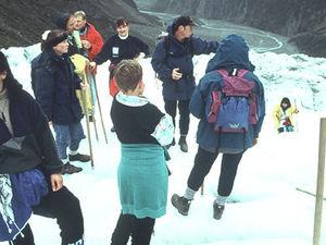 Fox Glacier - follow your guide!