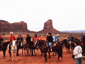 Monument valley - paardrijden