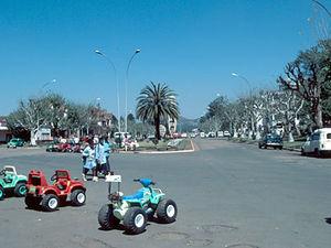 Antsirabe – boulevard in de stad