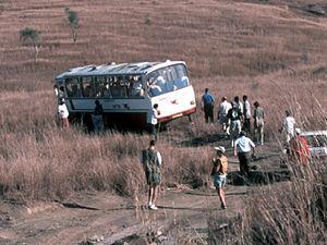 Isalo National Park – uitzicht met bus