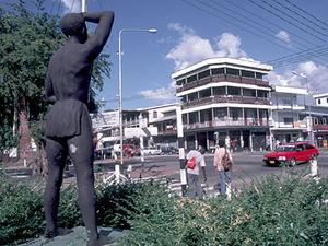 Paramaribo - standbeeld Kwaku