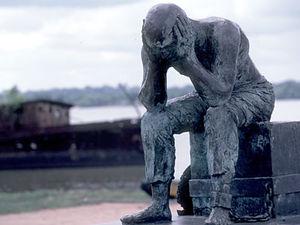 St. Laurent du Maroni - standbeeld gevangene