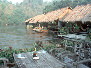 Jungle Rafts - zitje met uitzicht