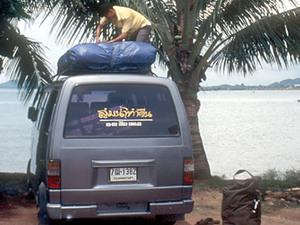 Minibusjes onderweg