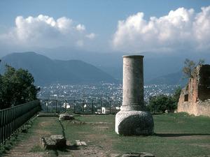 Pompeii - zicht op Napels