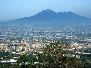 Vesuvius - uitzicht op de vulkaan