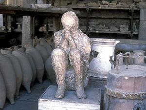Pompeii - afdruk van persoon