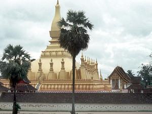 Vientiane - gouden stupa