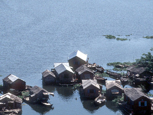 Tonle Sap - drijvend dorp