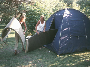 Het kamperen - de matrassen