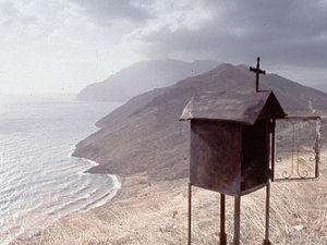 Peloponnesos - kust en huisje met kerk