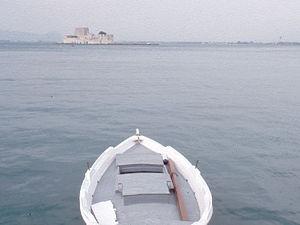 Nafplion - boot, baai, kasteel
