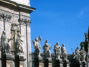 Kraków - heiligenbeelden