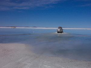 Salar de Uyuni - water op het zout